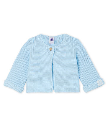 Baby-Cardigan aus 100% Baumwollstrick. blau Toudou