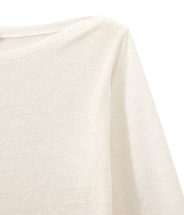 Damen-Langarmshirt aus irisierendem Leinen