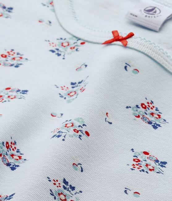 T-shirt fille imprimé en jersey stretch blau Fraicheur / weiss Multico