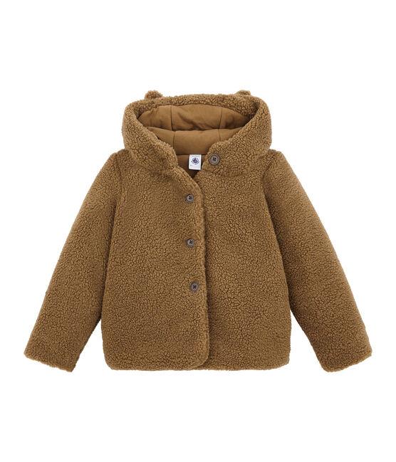 Mädchen Mantel aus Lammfellimitat braun Brindille