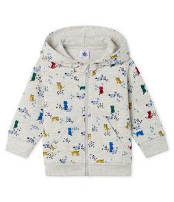 Gemustertes Baby-Kapuzensweatshirt aus Molton für Jungen.