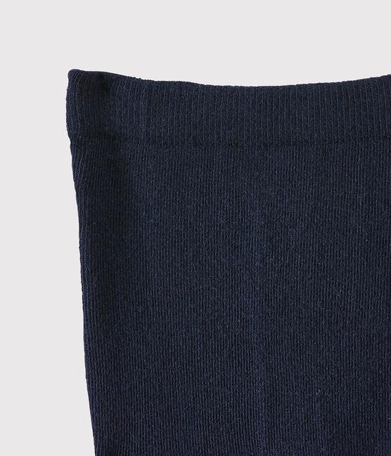 Kinder-Strumpfhose aus Jersey für Mädchen blau Abysse