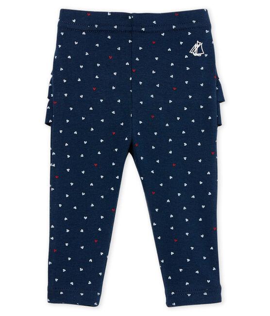 Gemusterte baby-legging mädchen blau Haddock / weiss Multico