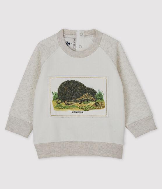 Baby-Sweatshirt für Jungen Petit Bateau & Deyrolle MARSHMALLOW/MONTELIMAR