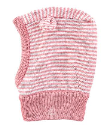 Kapuzenmütze für Babys, unisex rosa Charme / weiss Marshmallow
