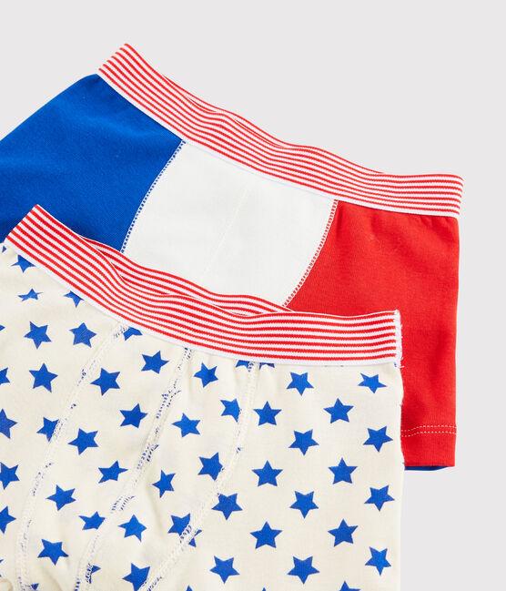 Set mit 2 'Made in France' Boxershorts für kleine Jungen lot .