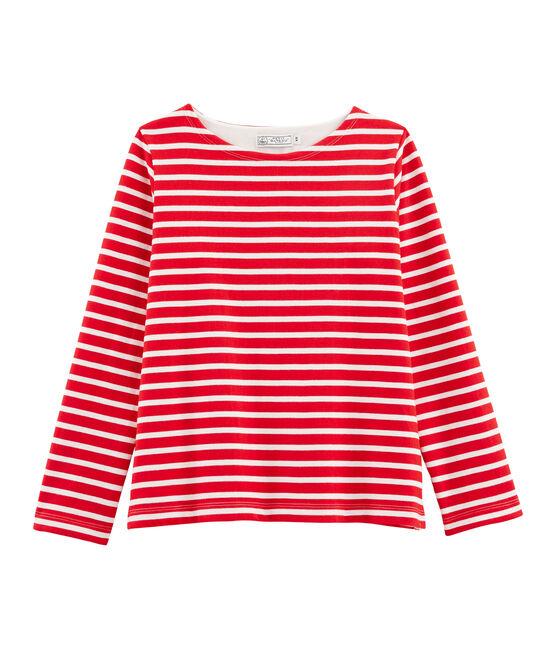 Streifenshirt Damen rot Peps / weiss Marshmallow