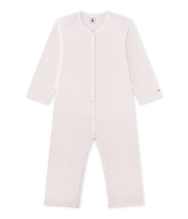 Mädchen-Overall aus Fleece rosa Vienne / grau Mistigri