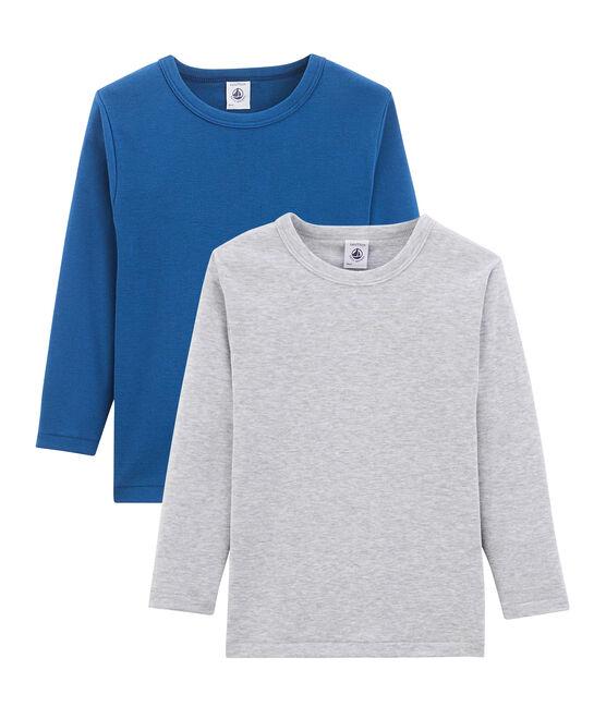 Duo aus langärmeligen T-Shirts für kleine Jungen lot .