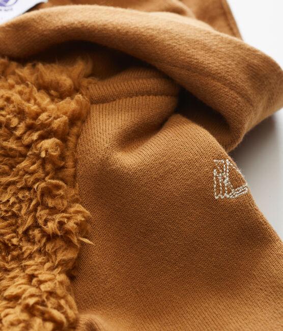 Baby Jungen Kapuzensweatshirt aus Lammfellimitat braun Brindille