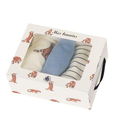 Dreier-Set Baby-Lätzchen aus Rippstrick für Jungen