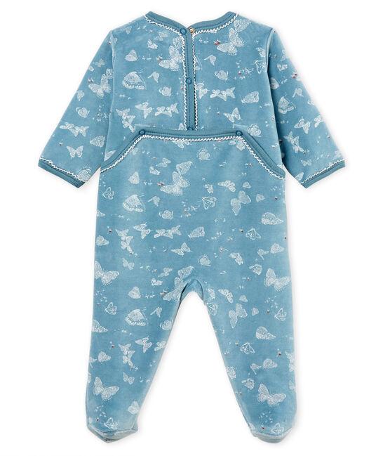 Baby-Strampler für Mädchen blau Fontaine / weiss Marshmallow