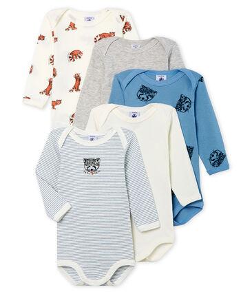 Set mit 5 langärmligen Baby-Bodys für Jungen