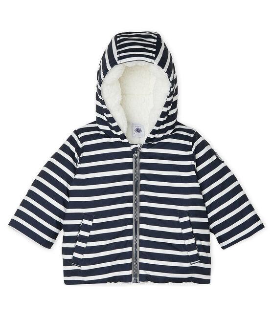 Gestreifte Jacke für Baby Jungen blau Smoking / weiss Marshmallow