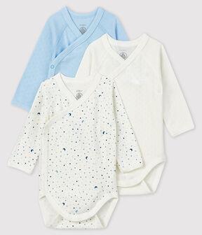 Set mit drei langärmeligen Bodys für Neugeborene lot .