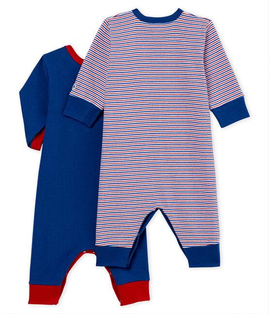 Duo Baby-Strampler ohne Füße aus Rippstrick für Jungen lot .