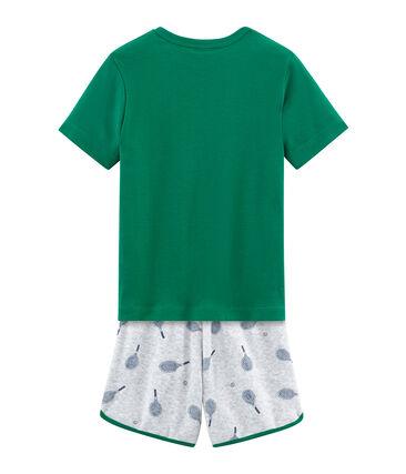Pyjama aus aufgerautem Frottee für kleine Jungen