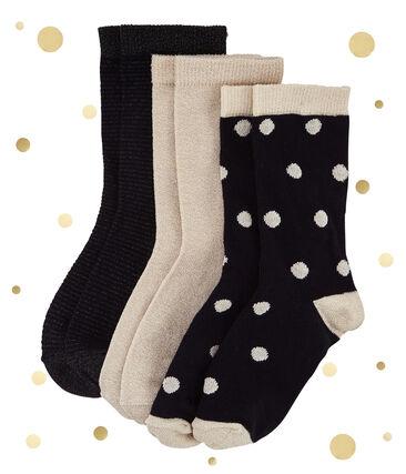Goldene Socken im 3er-Set lot .