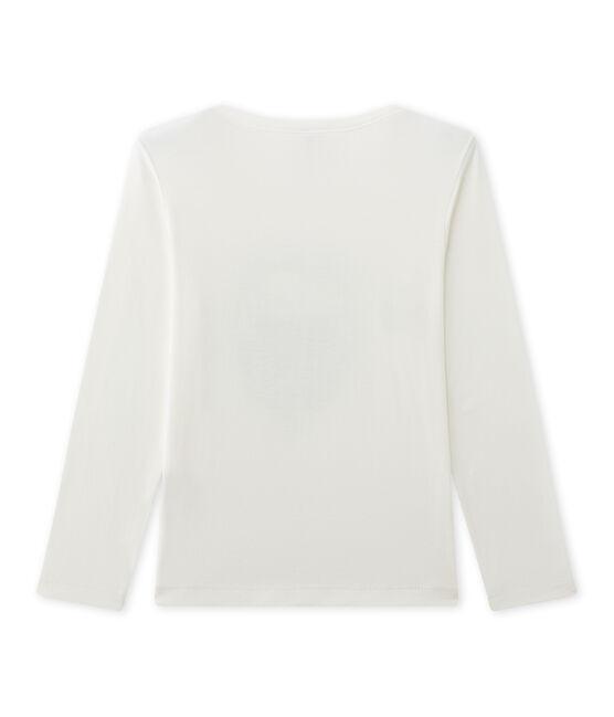 Bedrucktes Jungen-Langarmshirt beige Coquille
