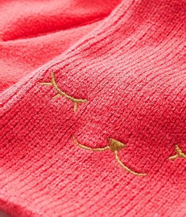 Baby-Schal für Mädchen mit Fleecefutter rot Signal