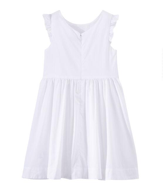 Festliches Mädchen-Kleid weiss Ecume