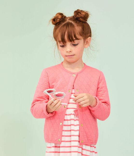 Kinder-Cardigan für Mädchen rosa Cupcake