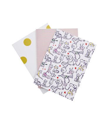 Set mit drei Heften weiss Marshmallow / weiss Multico