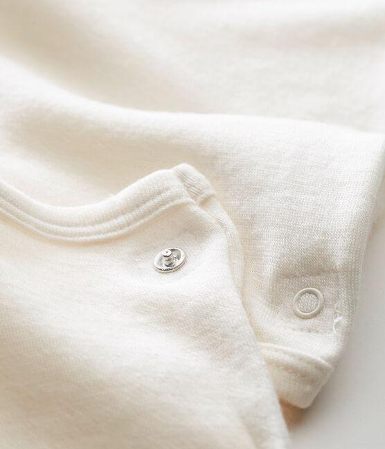 Unisex Baby Langarmbody im 2-in-1Design beige Ecru