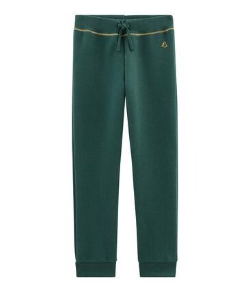 Hose aus Molton für Mädchen grün Sousbois