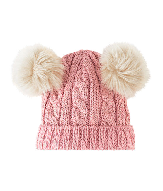 Kindermütze für Mädchen rosa Charme / gelb Or