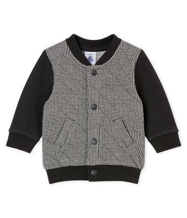 Baby Jungen Cardigan aus gedoppeltem Jersey mit Hahnentritt•Muster