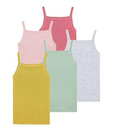 Mädchen Trägerunterhemden im 5er-Set