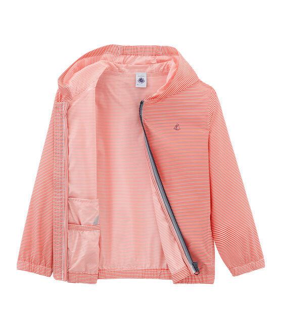 Kinder-Windjacke Unisex rosa Petal / blau Crystal