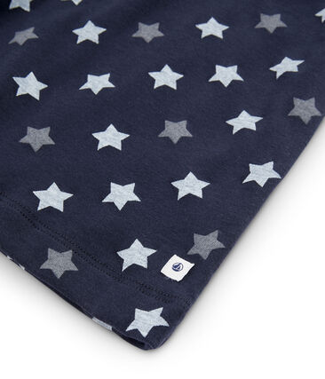 Rippstrick-Pyjama mit Sternen, für kleine Jungen blau Smoking / weiss Multico