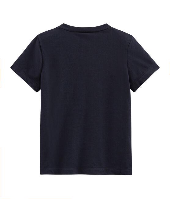 Kurzärmeliges Kinder-T-Shirt Jungen blau Smoking