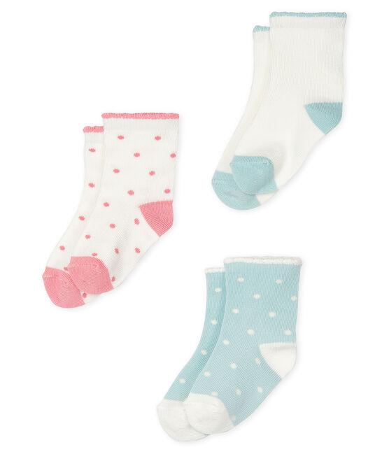 Set aus drei Paar Babystrümpfen für Mädchen lot .