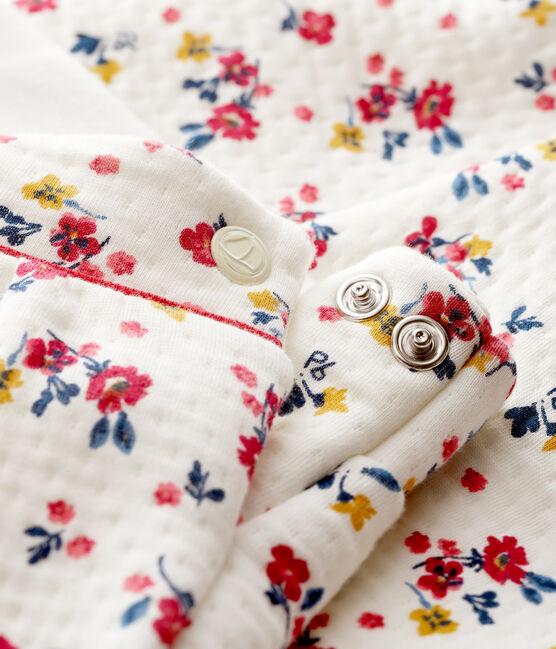 Baby-Hose aus Doppeljersey für Mädchen weiss Marshmallow / weiss Multico