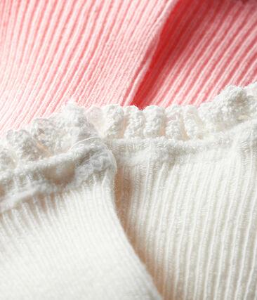 Set aus zwei Paar Babystrümpfen für Mädchen rosa Minois