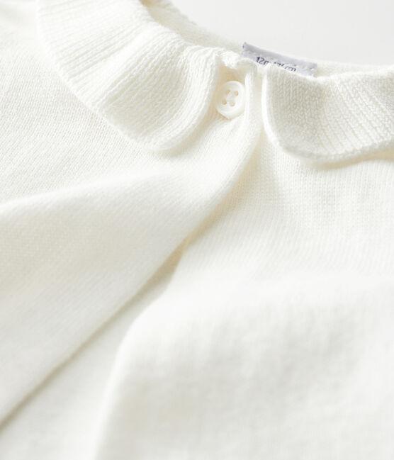 Baby-Bolero für Mädchen weiss Marshmallow