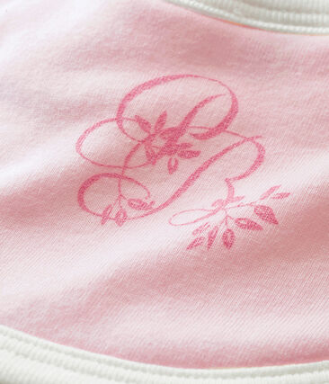 Unisex Baby Lätzchen aus 1x1 Rippstrick in Uni rosa Vienne