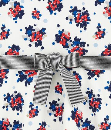 Geblümtes Kleid aus Molton