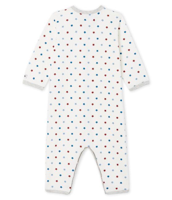 Baby-Strampler ohne Fuß aus Doppelersey für Jungen weiss Marshmallow / weiss Multico