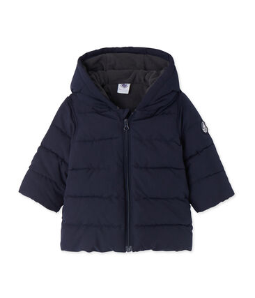 Baby-Jungen-Winterjacke blau Smoking
