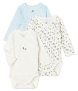 3er-Set langärmlige Bodys für Neugeborene