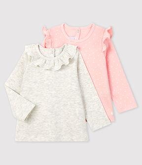 Set mit 2 Baby-Blusen für Mädchen lot .