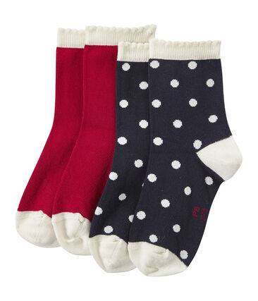 Mädchen-Socken im 2er-Set