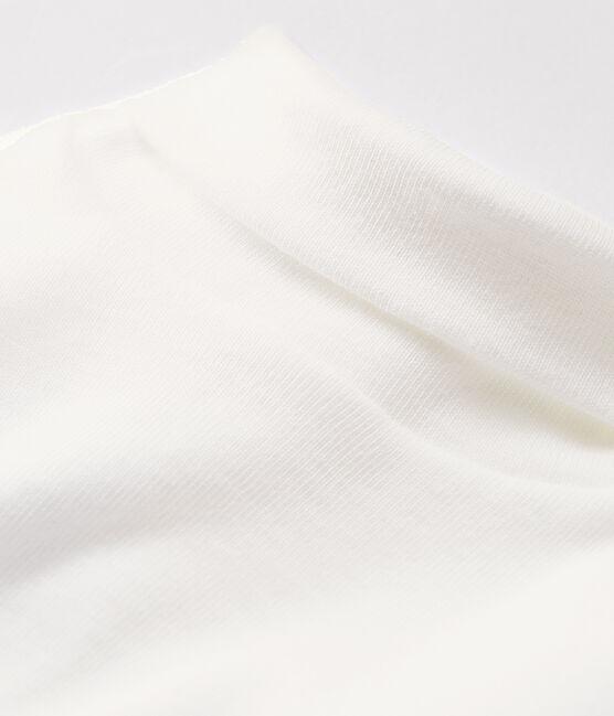 Langärmeliger Baby-Body mit Rollkragen weiss Marshmallow