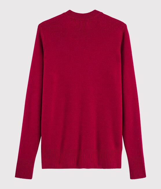 Damenpullover aus Wolle rot Terkuit