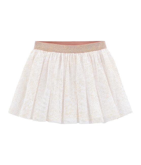 Kinder-Rock Mädchen weiss Marshmallow / rosa Copper