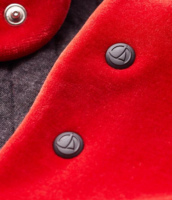 Ärmellose Baby-Strickjacke für Jungen rot Terkuit